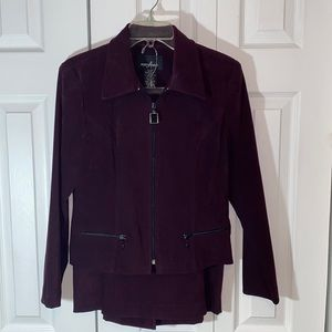 POSITIVE ATTITUDE. JACKET AND SKIRT. SIZE 8 P